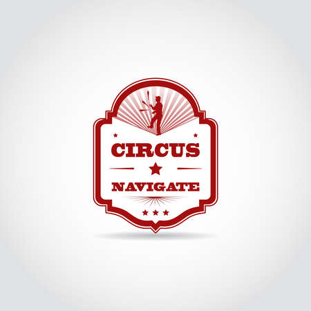 Circus vintage template design. Vector Illustation