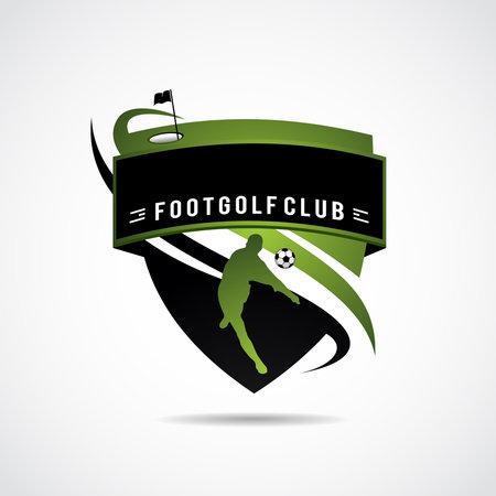 Foot Golf logo template. Vector Illustrator