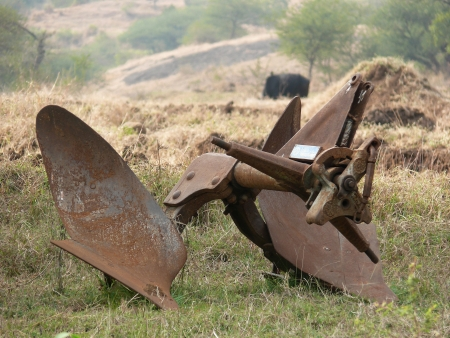 the plough:  Agricultural Plough      Stock Photo