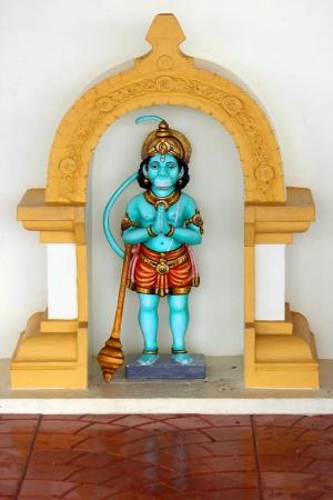 indian god: sculpture of hanuman indian god