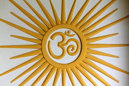Om symbol with some smooth lines and highlights Stock Photo - 18413933