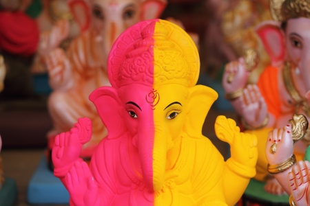 sculpture of Lord ganesha- God of luck photo