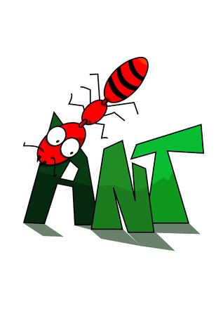 hormiga caricatura: La palabra de la hormiga de la historieta para la educaci�n