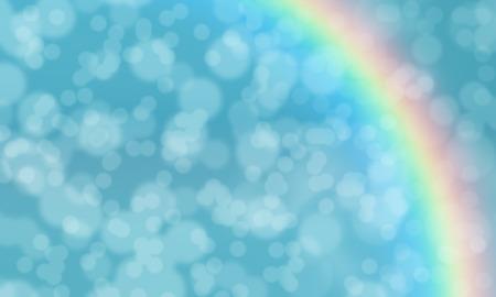 arco iris: Bokeh abstracta del arco iris de colores de fondo, ilustración