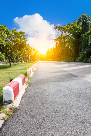 jogging track: Jogging track at public park with sunlight