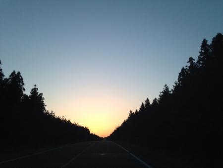 beautiful scenery of sunset jeju island