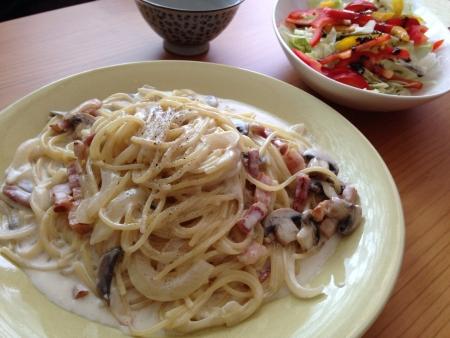 cream spaghetti
