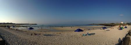 peaceful beach in jeju