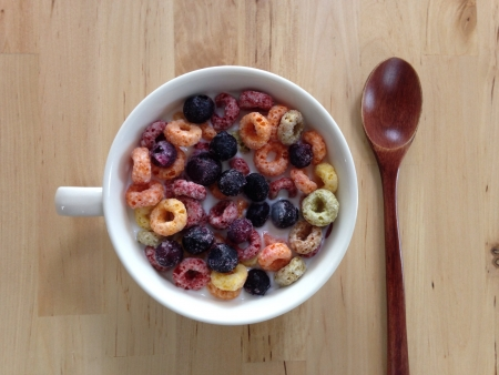 Fruit cereal on the table