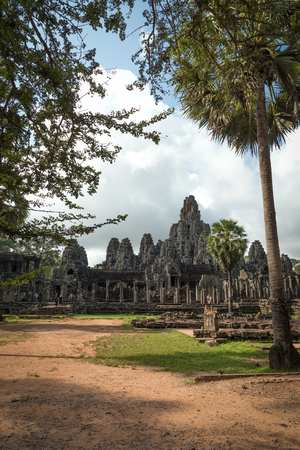 View of Bayon in Seam Reap, Cambodia.