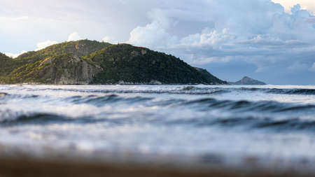 The scenery of the hill at Hua Hin with the blurry wave foureground. Reklamní fotografie