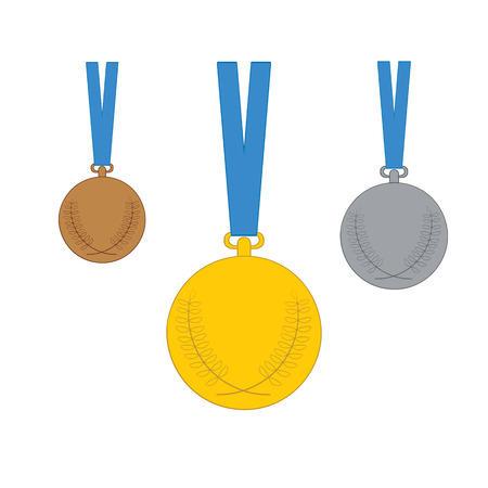 silver medal: Gold medal. Silver medal. Bronze medal. Set of Vector medal icons isolated on white background.