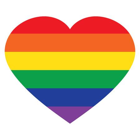 ベクトル心虹のアイコン、lgbt のコミュニティの分離の白い背景に署名します。 写真素材 - 57990701