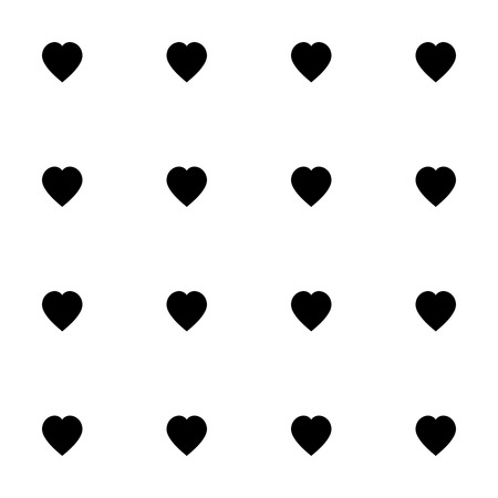 filling material: Seamless pattern with black hearts for web, print, wallpaper, fashion fabric, textile design, background for invitation card or holiday decor.