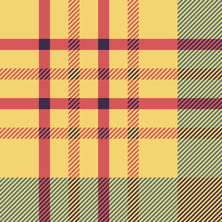 twill: Set of seamless british tartan pattern. Plaid brown, red and yellow palette tartan pattern. Repeated twill texture for web, print, fashion fabric, textile design, background for invitation card Vector illustration