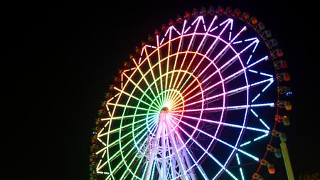 ferris wheel night view
