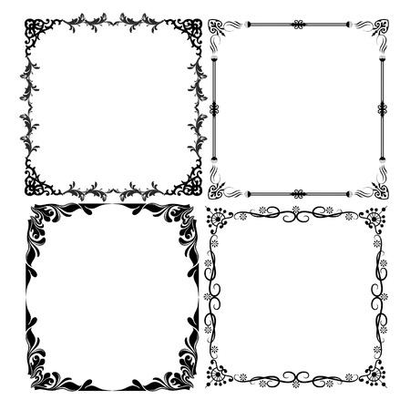 black decorative frames Illustration