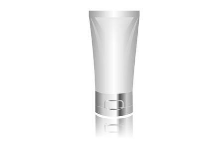 cream tube: Blank Plastic Tube Package Illustration