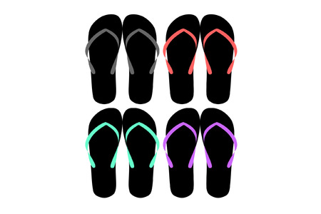 flop: flip flop vector Illustration