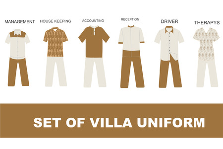 swiming: Hotel and villa uniform