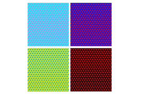 pop art herringbone pattern: Star seamless pattern background Illustration