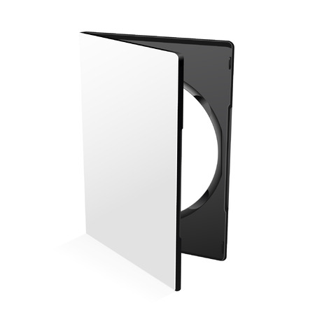 dvd case: Blank dvd case isolated on white with disc inside