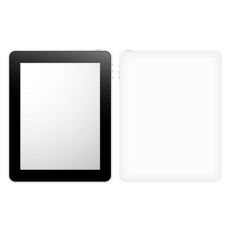 palmtop: Tablet Computer Graphic With Blank Screen