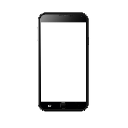 computer screen: Realistic smart phone vector Illustration