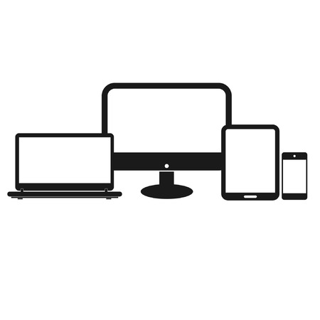 electronic device: Set of electronic device vector
