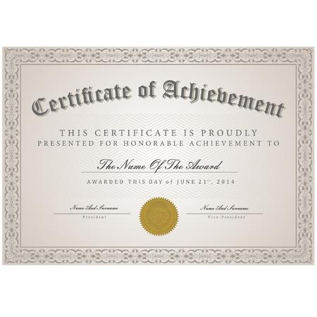 Certificate template vector Vector