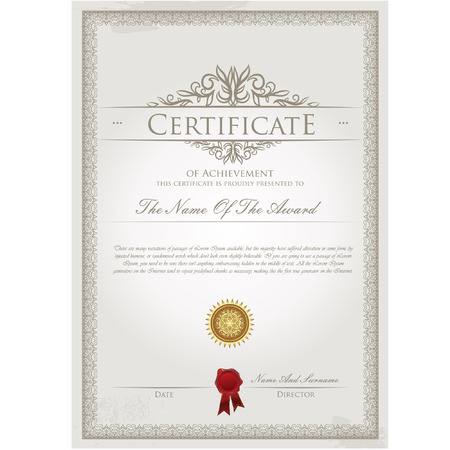 editable: Certificate template vector