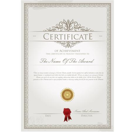 Certificato template vettoriale Archivio Fotografico - 31851320