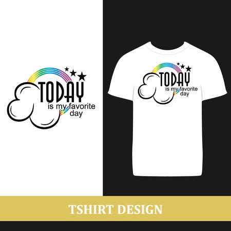 티셔츠 디자인 오늘은 내가 가장 좋아하는 날이다