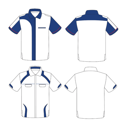blue collar: Uniform design template vector