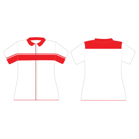 short sleeve: Uniform design template for woman