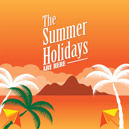 holiday background: Summer holiday background vector