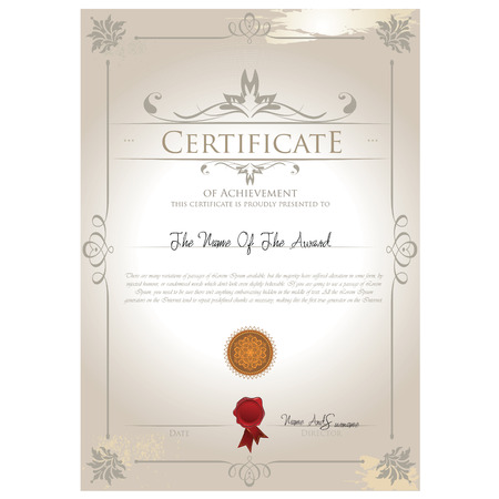 Vintage certificate template vector Ilustração