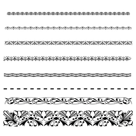Border line set design vector