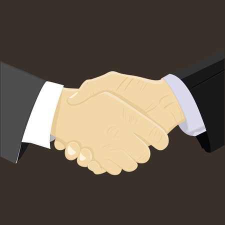 equal opportunity: Handshake vector illustrations for business Illustration