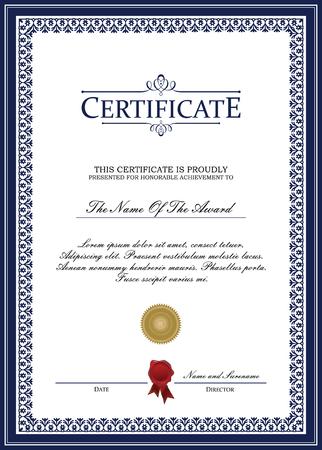certificate template: Certificate template vector