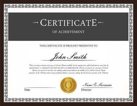 certificate design: Certificate template vector