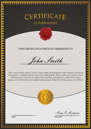 certificate  calligraphy: Certificate template vector