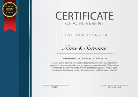 Certificate template with ribbon vector Ilustração