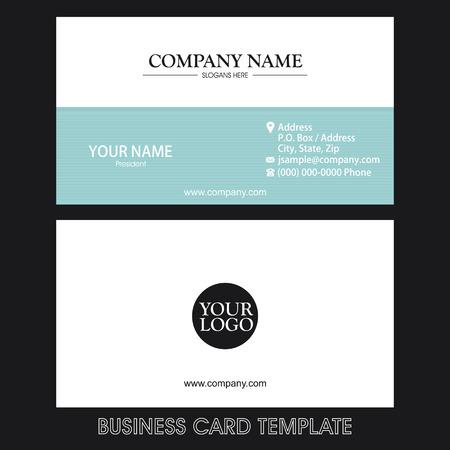 Business card template Ilustração