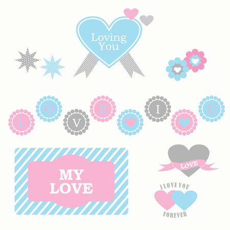 Love element set vector