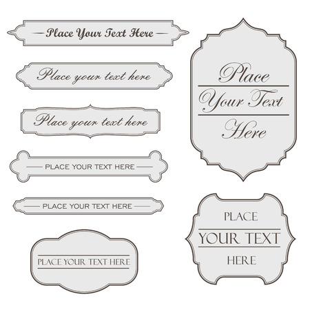 Frame set vector with text