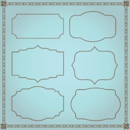 Frames set template for invitation vector