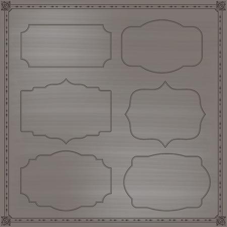 Frames set decoration for invitation vector