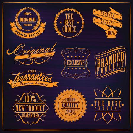 Labels set vintage. Vector elements