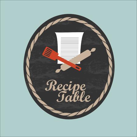 Recipe table template vector
